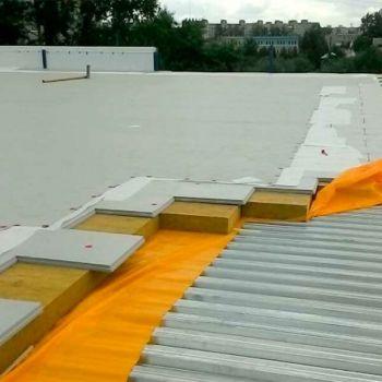 Утепление и гидроизоляция крыши производственных зданий